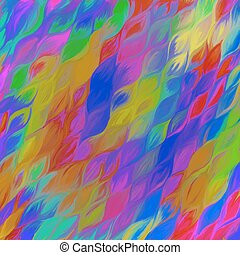 Abstract Colorful Oil Paint Waves Seamless Pattern. Vector...