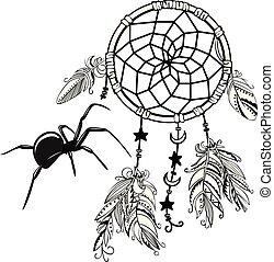 Dream Catcher with Spider