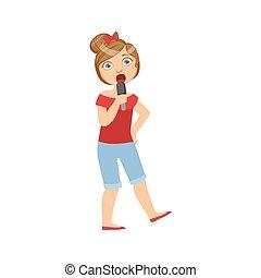 Girl In Breeches Singing In Karaoke