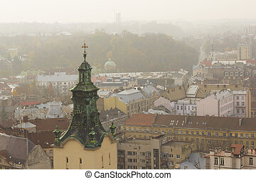 Tower of a Latin Cathedral in Lviv
