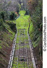 Narrow gauge railway track in Italy