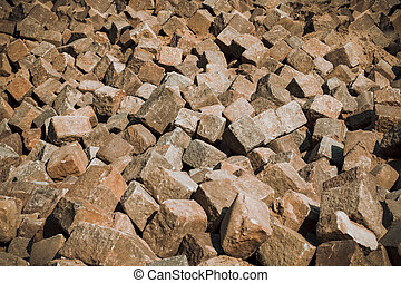 stone blocks closeup