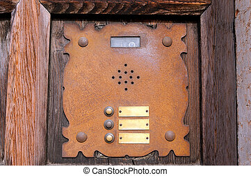 Rusty Building Intercom - Verona Italy - Detail of an old...