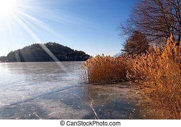 Lago di Serraia in Winter - Trentino Italy - Lago di Serraia...
