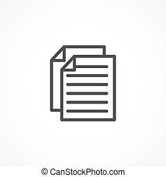 Paperwork icon - Gray Paperwork icon on white