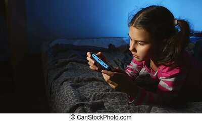 teen girl playing portable video game a console online kid...
