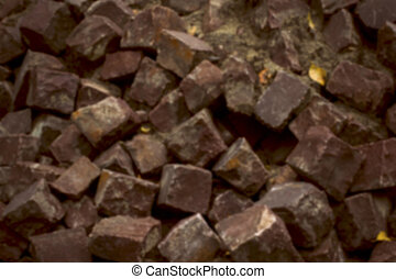 stone blocks closeup. Blurred background - stone blocks...