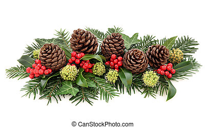 Winter Flora and Christmas Decoration - Winter flora and...