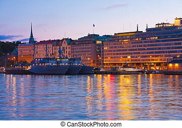Evening scenery of Helsinki