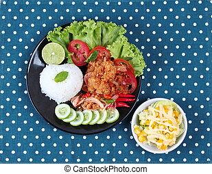 Fried,jasmine rice,shrimp paste,kap - Jasmine rice with...