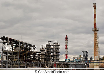 Construction site under refinery - Old installation of a...