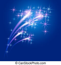Glowing background with stars and salute