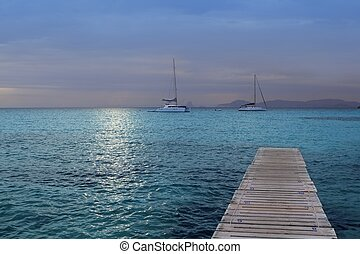 magic silver turquoise Formentera sea sunset - magic silver...