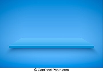 Blue Presentation platform - Light box with Blue platform on...