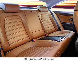 back passenger seats in modern luxury comfortable car