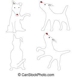 Bull Terrier White Dog Acting Cute