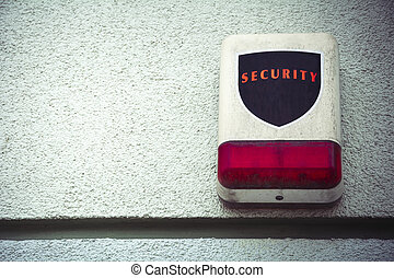 Weathered security alarm with room