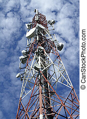 Telecommunications tower - A telecommunications tower as...