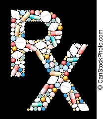 Medical Prescriptions RX Symbol - RX - symbol for medical...