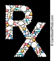 Medical Prescriptions RX Symbol - RX - symbol for medical...