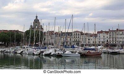 La Rochele France city Harbor - DSLR Full HD progressive...