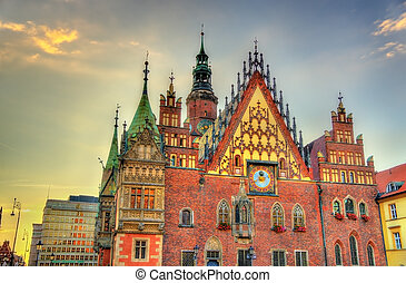 Old City Hall in Wroclaw, Poland - The Old Town Hall in...