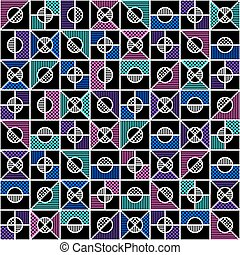 geometric seamless pattern in style of the 80s. vector...