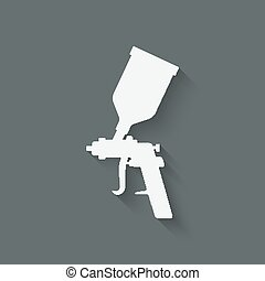 spray gun symbol. vector illustration - eps 10