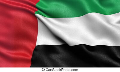 United Arab Emirates flag seamless - Seamless loop of the...
