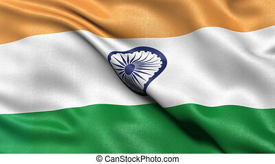 India flag seamless loop - Seamless loop of India flag...