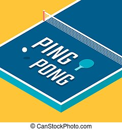 Ping-pong posters design - Ping-pong poster design. Table...