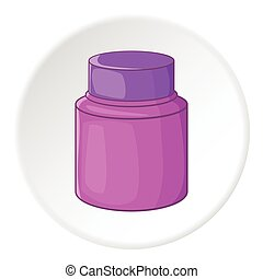 Shaving cream icon, cartoon style - Shaving cream icon....