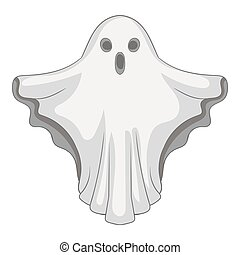 Ghost icon, gray monochrome style