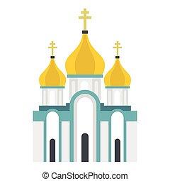 Orthodox church icon, flat style - Orthodox church icon....