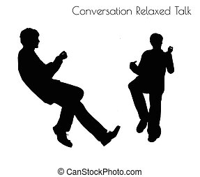 man in Conversation Relaxed Talk pose - EPS 10 vector...
