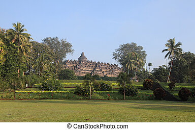 Borobudur temple - Borobodur temple near Jogyakarta city...