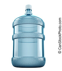 Big water bottle for delivery services isolated on a white...