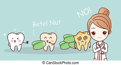 woman dentist with betel nut