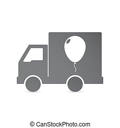 Isolated delivery truck with a balloon