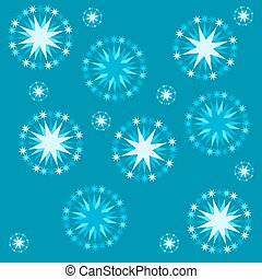 blue starry pattern