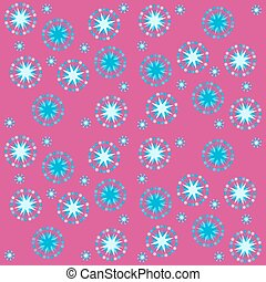 red blue starry pattern
