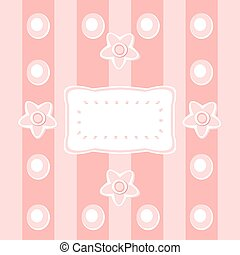 Abstract floral pattern with decora