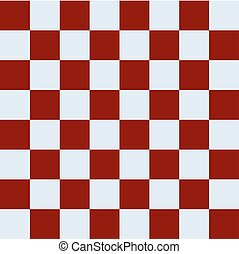 Simple checkerboard - Simple red brown silver gray...