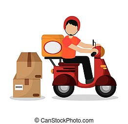 Package and motorcycle of delivery design