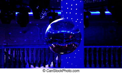 disco ball in night club