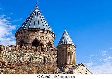 kakhetia, Géorgie, orthodoxe, monastère, géorgien, oriental,...