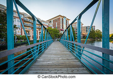 Bridge over the Reedy River in downtown Greenville, South...
