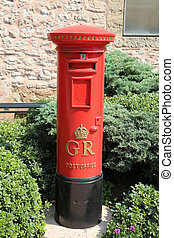 Red Pillar Box is a type of free standing post box