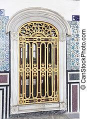 Window in Topkapi Palace, Istanbul City, Turkey