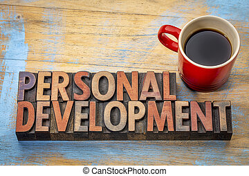 personal development word abstract